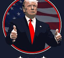 Donald Trump - 2016 - USA election - thumbs up by twyland