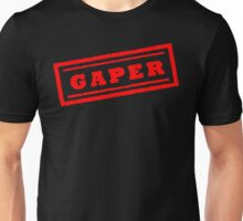 Gaper Stamp (Original - Red) Unisex T-Shirt