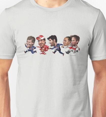 Formula 1 drivers 2010 - the final result version. Unisex T-Shirt
