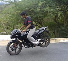 rear wheeling in pulsar 180 by sudharsan raana