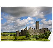 Quin Abbey, County Clare, Ireland Poster