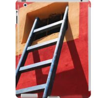 Blue ladder on a red wall iPad Case/Skin