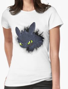 Night Fury Womens Fitted T-Shirt