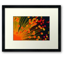 Fibre Optic Lamp Framed Print