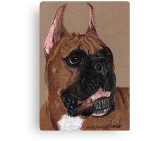 Boxer Vignette Canvas Print