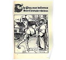 The Wonder Clock Howard Pyle 1915 0151 The Poor Man Welcomes Saint Christopher to his House Poster