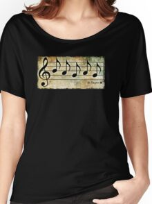 PAGAN - Words in Music Earth Tones Background - V-Note Creations Women's Relaxed Fit T-Shirt