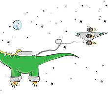 Sauropod in Space by mariecs