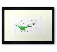 Sauropod in Space Framed Print