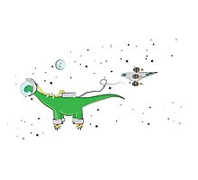 Sauropod in Space Photographic Print
