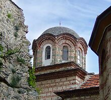 Mount Athos - tower at Grigoriou by SvobodaT