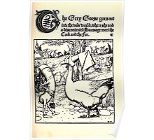 The Wonder Clock Howard Pyle 1915 0065 They Grey Goose Goes Into the Wild World Discontented Sausage Cock and Fox Poster