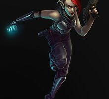 Shadowrunner Ember by meredithlaxton