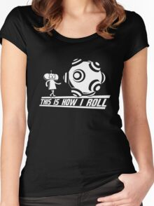 Katamari Damaci: This is how I Roll Women's Fitted Scoop T-Shirt