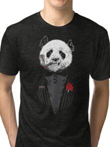 D panda godfather Tri-blend T-Shirt