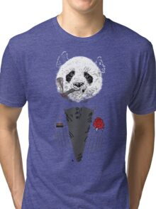 D panda godfather Tri-blend T-Shirt
