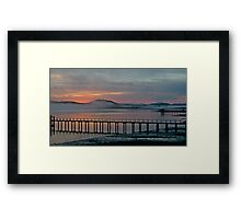 Tomales Bay, California Sunrise Framed Print