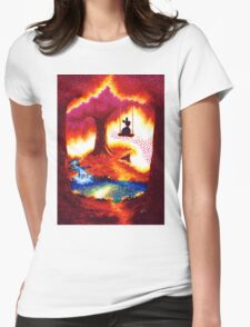 silent autumn Womens Fitted T-Shirt