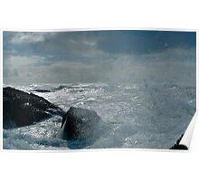 Wave Spray, Half Moon Bay, California Poster