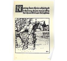 The Wonder Clock Howard Pyle 1915 0229 Having Thrice Adjudged Wrong Poor Man Left By Rich Man Blind Upon Highway Poster