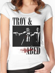 Troy & Abed (Pulp Fiction Style) Women's Fitted Scoop T-Shirt