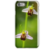 Bee orchids in summer iPhone Case/Skin