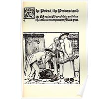 The Wonder Clock Howard Pyle 1915 0193 The Priest Provost Master Mayor Trumpet Black Goat Poster