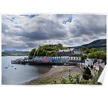 Portree on a cloudy day Poster
