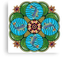 Japanese Carp Mandala Canvas Print