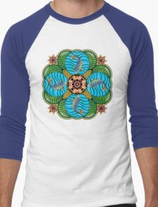 Japanese Carp Mandala Men's Baseball ¾ T-Shirt