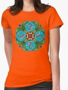 Japanese Carp Mandala Womens Fitted T-Shirt