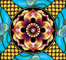 Japanese Carp Mandala Sticker