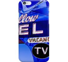 Blue Swallow Motel Neon Sign iPhone Case/Skin
