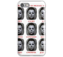 The Many Faces Of Michael Myers (Halloween) iPhone Case/Skin