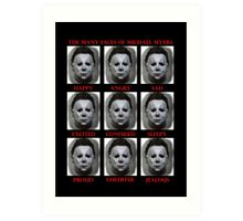 The Many Faces Of Michael Myers (Halloween) Art Print