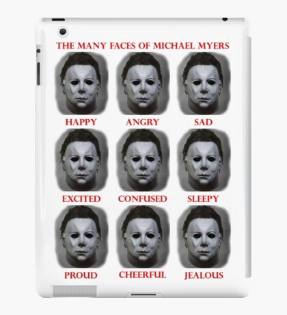 The Many Faces Of Michael Myers (Halloween) iPad Case/Skin