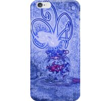 Vase with light flower - blue iPhone Case/Skin