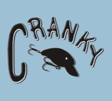 Cranky - Fishing t-shirt by Marcia Rubin