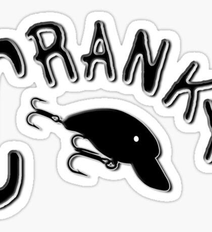 Cranky - Fishing t-shirt Sticker