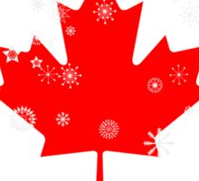 Canadian flag with snowflakes gruge Sticker