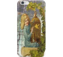 Victorian Girl With Gilded Canary Cage iPhone Case/Skin