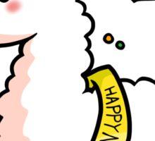 Happy New Year Llama Sticker