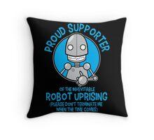 Robot Uprising 2 Throw Pillow