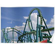Raptor At Cedar Point Poster