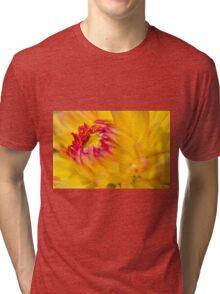 Yellow Dahlia Tri-blend T-Shirt
