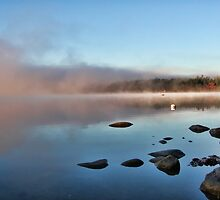 Fall At Crystal Lake - Mist Rising by T.J. Martin