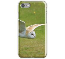 Barn owl in silent flight iPhone Case/Skin