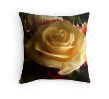 (Feb) fractal rose Throw Pillow