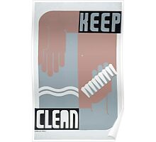 WPA United States Government Work Project Administration Poster 0215 Keep Clean Poster