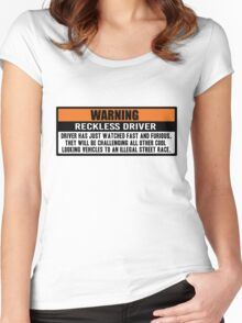 Warning - Fast and Furious Women's Fitted Scoop T-Shirt